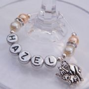 Double Elephants Personalised Wine Glass Charm - Elegance Style
